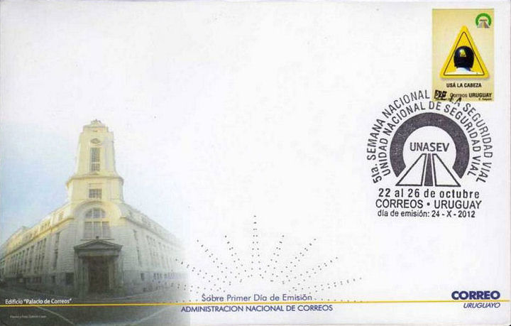FDC Uruguay with 1 stamp