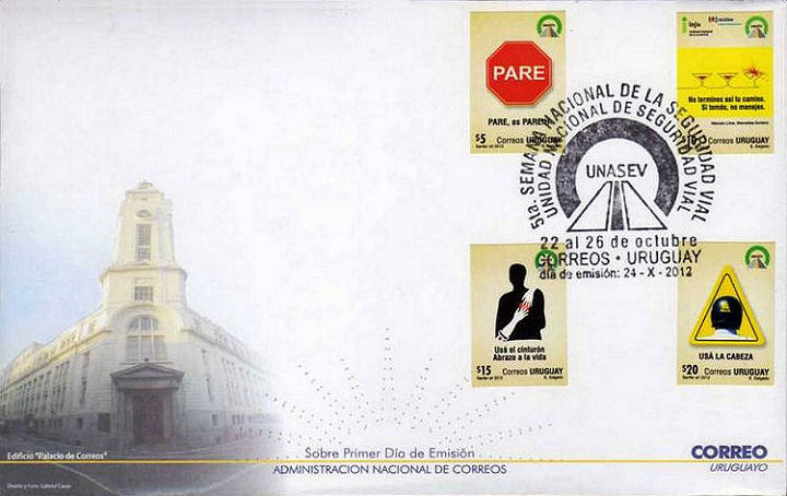 FDC Uruguay with 4 stamps
