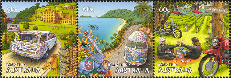 Stamps Australia - Road trip