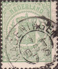 Stamp image shifted to the left and up